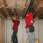 Radiant heat tubing installation